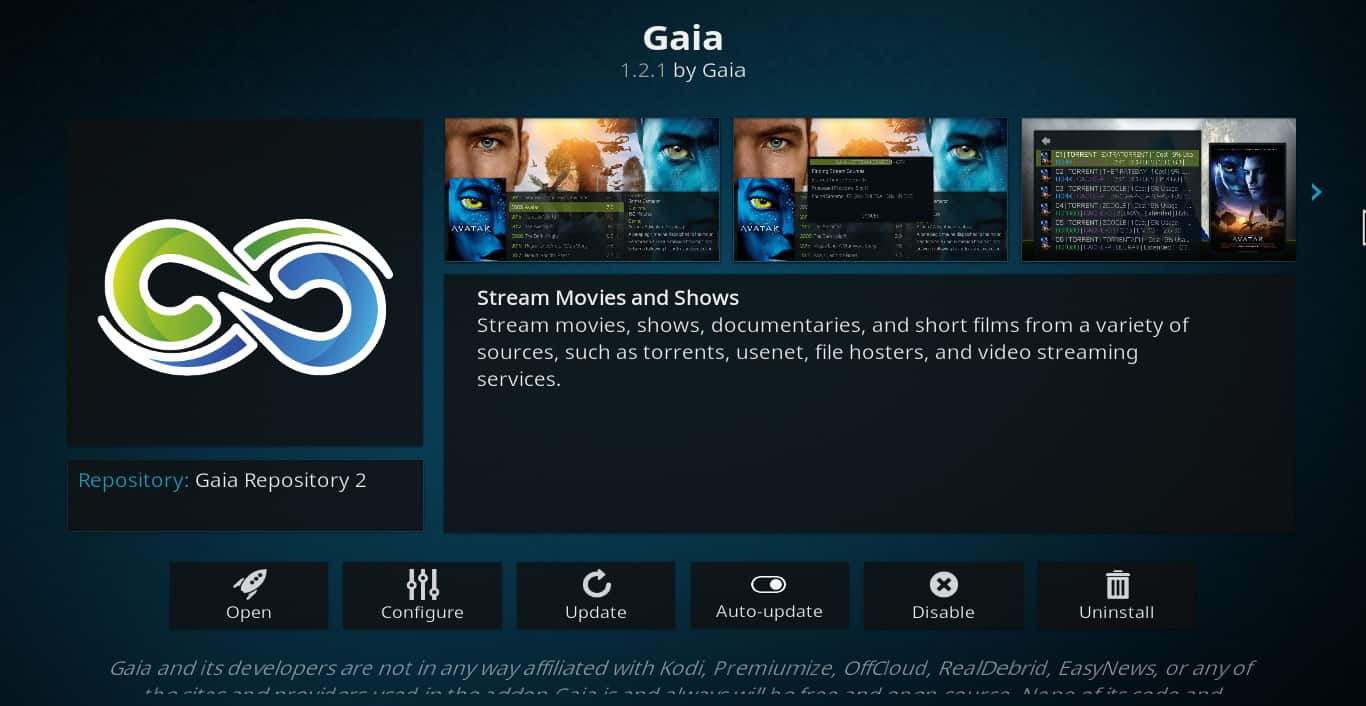 Gaia Kodi addon: What is Gaia and is it legal and safe to use?