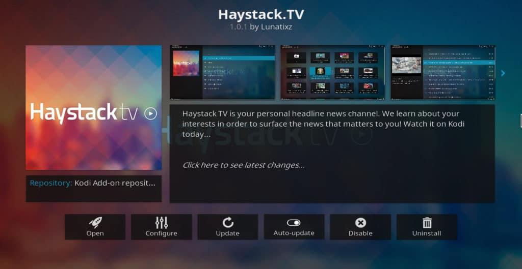 Haystack.TV Kodi addon