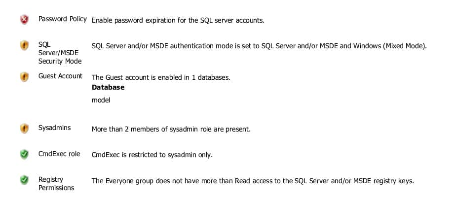MBSA's report includes missing updates and misconfigurations in Microsoft products and services.