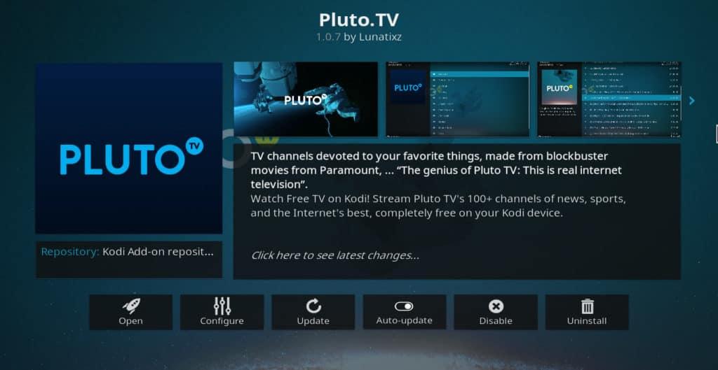Pluto.TV Kodi addon DAZN Kodi addon