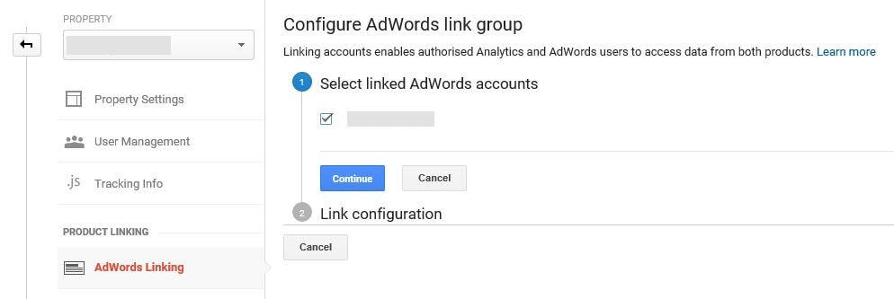 Integrating AdWords and Google Analytics.