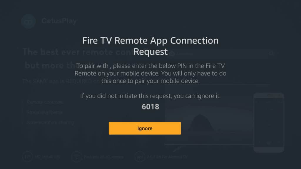 firestick vpn remote app request