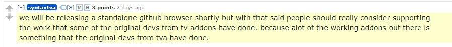 tvaddons standalone statement