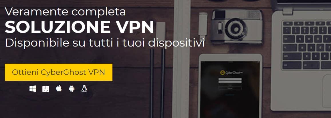 cyberghost homepage Italian