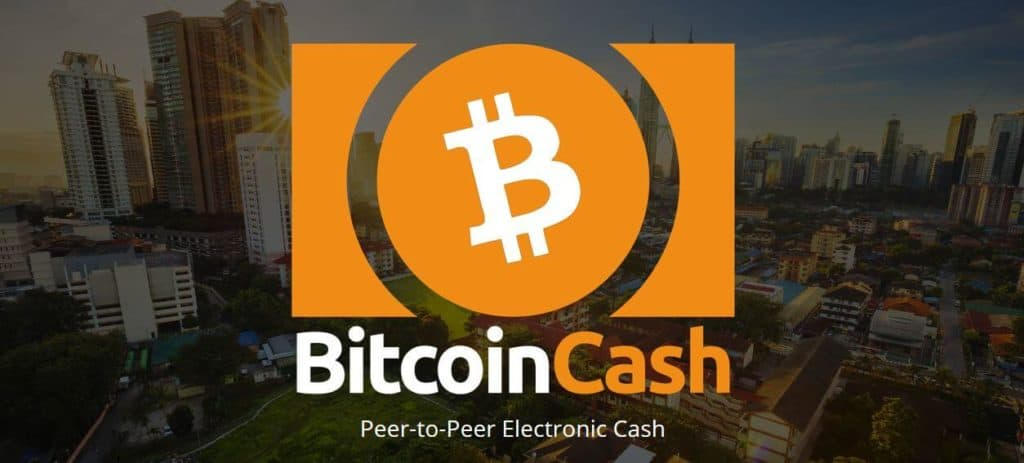 The bitcoin cash homescreen.