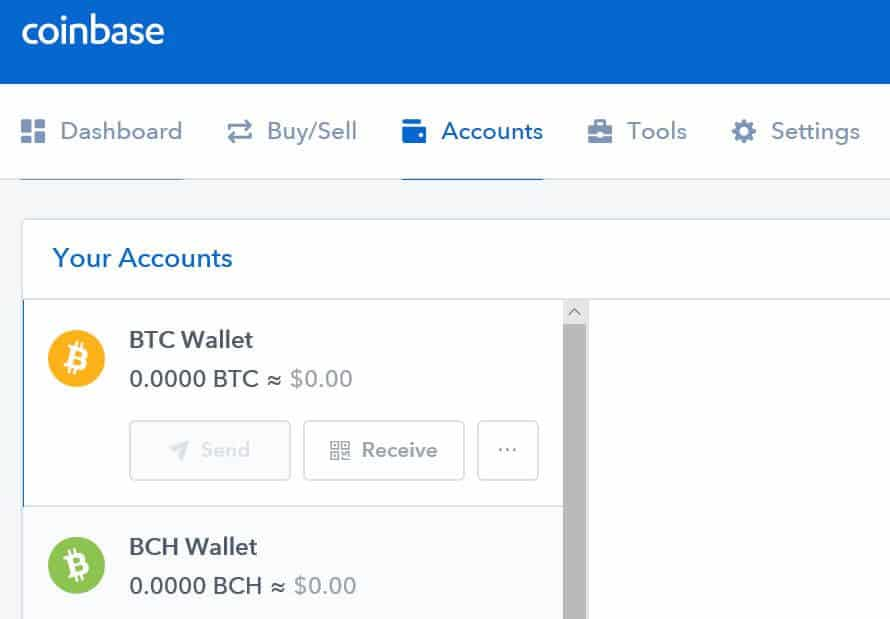 Coinbase wallets.