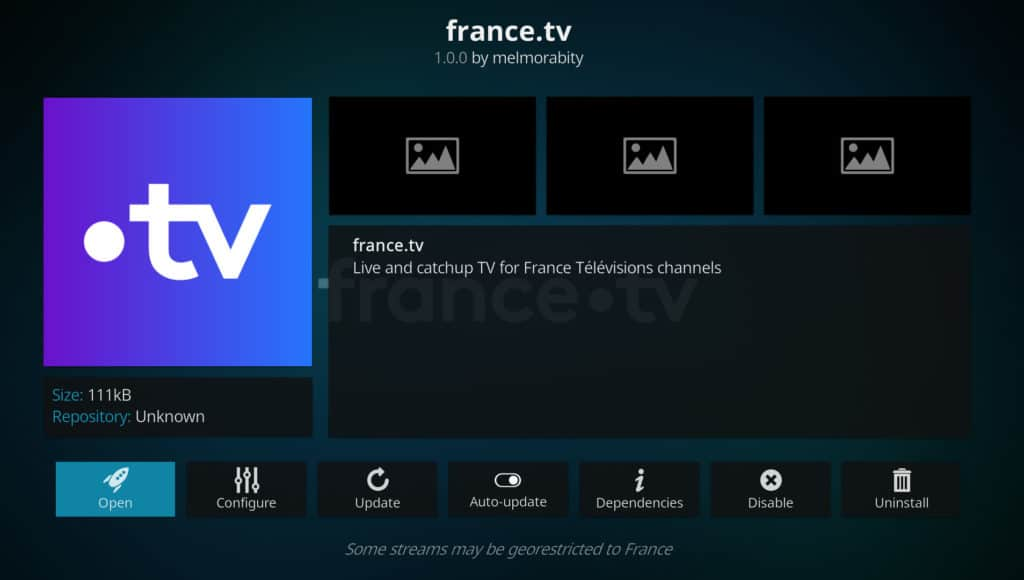 france.tv six nations free on kodi