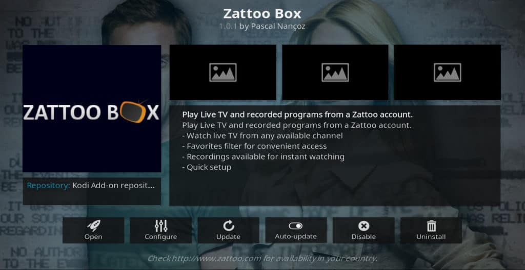 zattoo box kodi addon six nations on kodi
