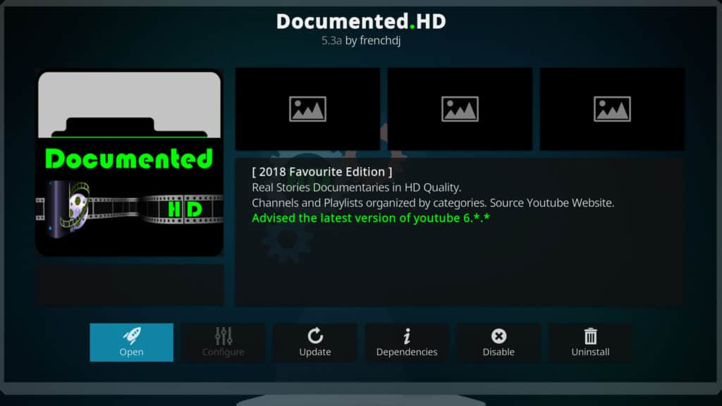 Documented.HD Best Kodi addons July 2018