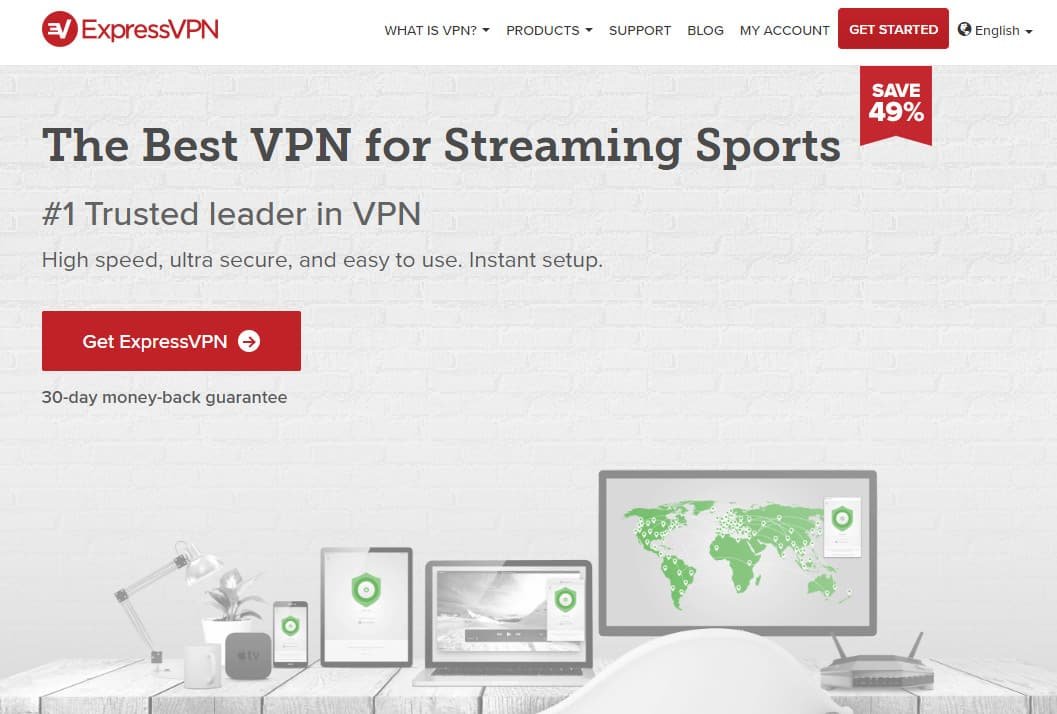 ExpressVPN streaming sports