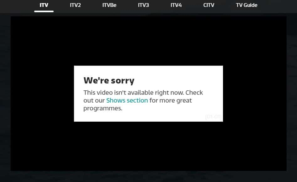 ITV hub not working abroad