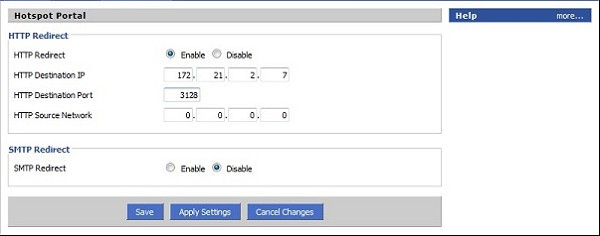 Router proxy settings