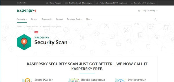 Kaspersky Security Scan screenshot