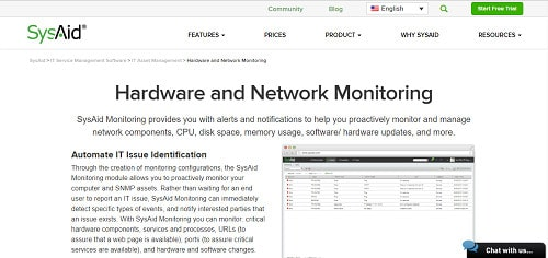 SysAid Network Monitoring