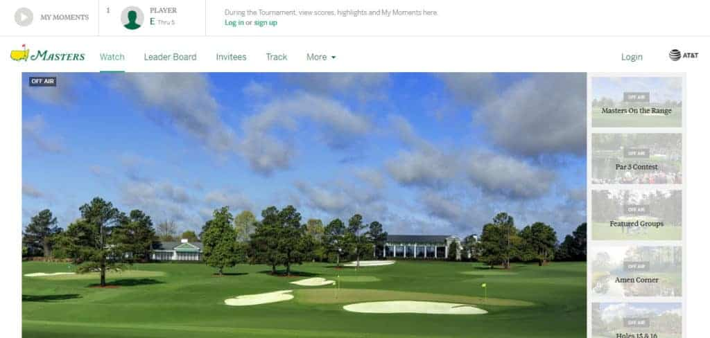 The Masters website