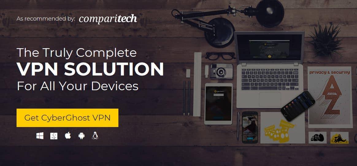 CyberGhost Comparitech page.