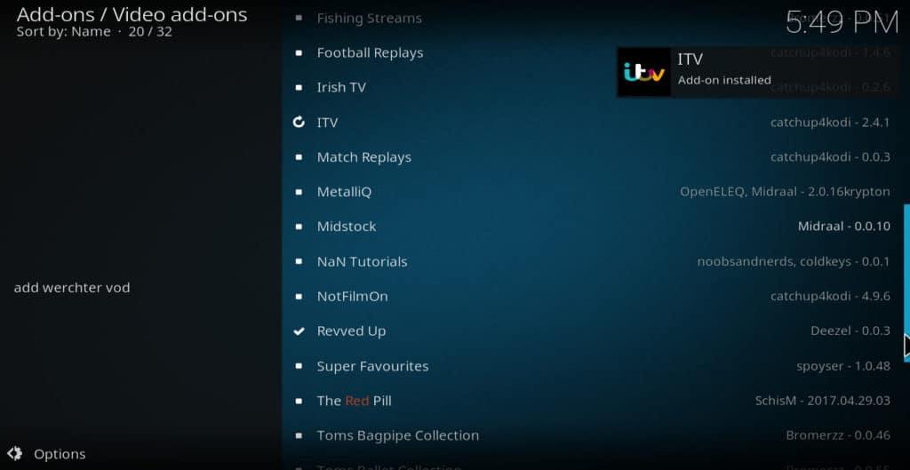 iTV installed