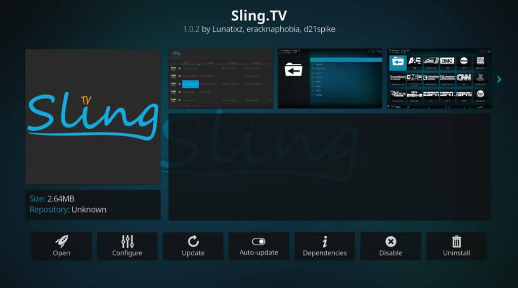 Sling TV kodi best movie addons