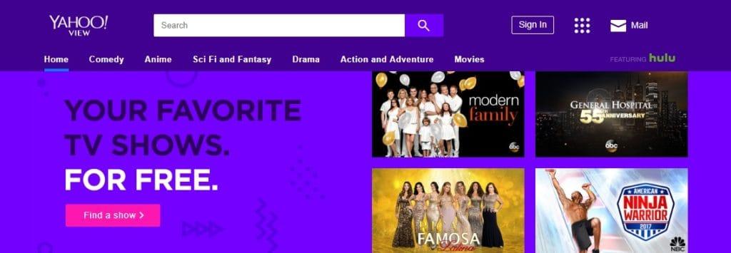 yahoo view homepage