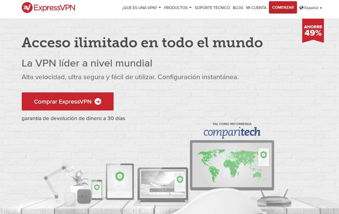 ExpressVPN Spain homepage