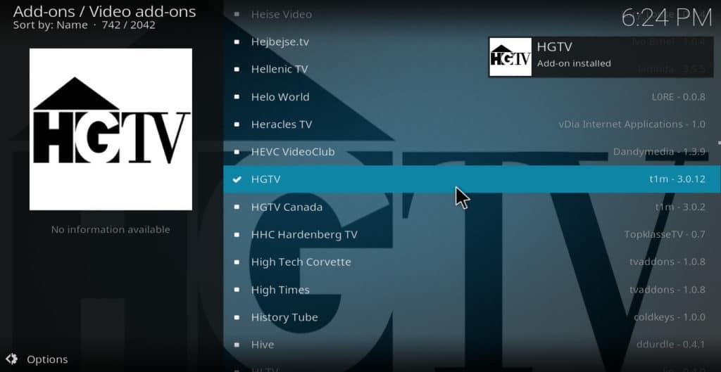 HGTV installed