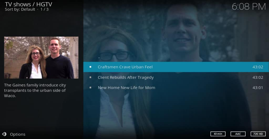 HGTV on Kodi