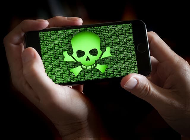 Mobile device malware infection