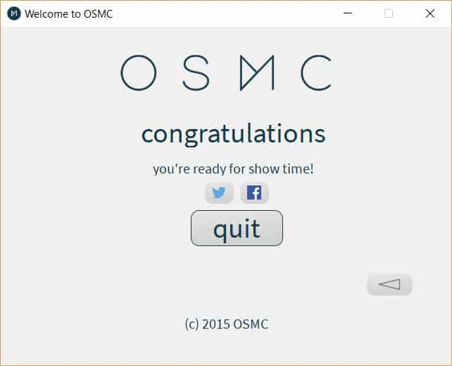 OSMC Installer Completion