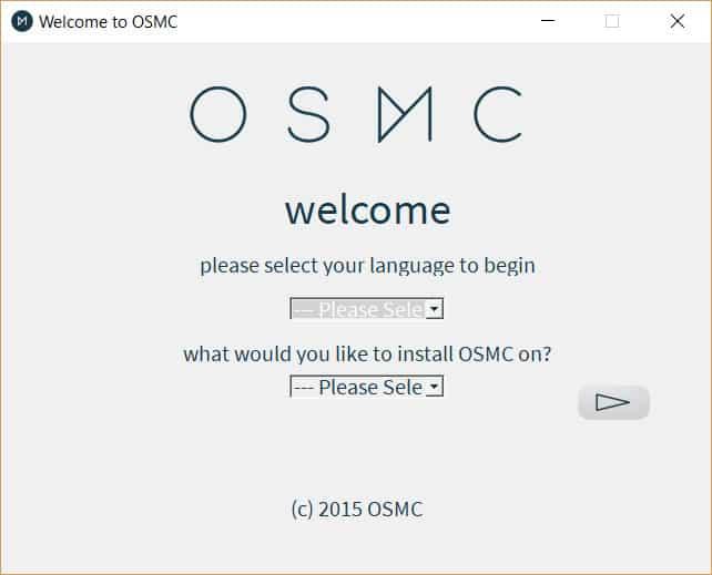OSMC Installer main