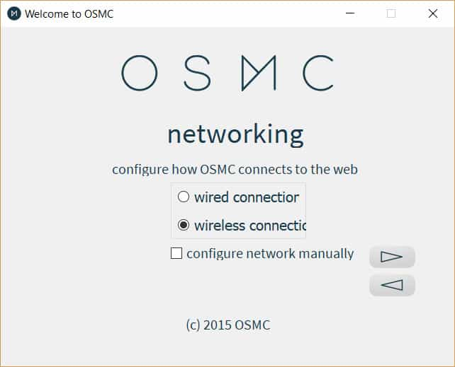 OSMC Network Settings