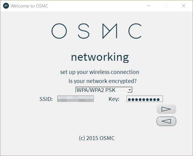 OSMC Wireless Installer Network Setup