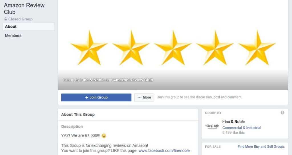 Amazon review club.