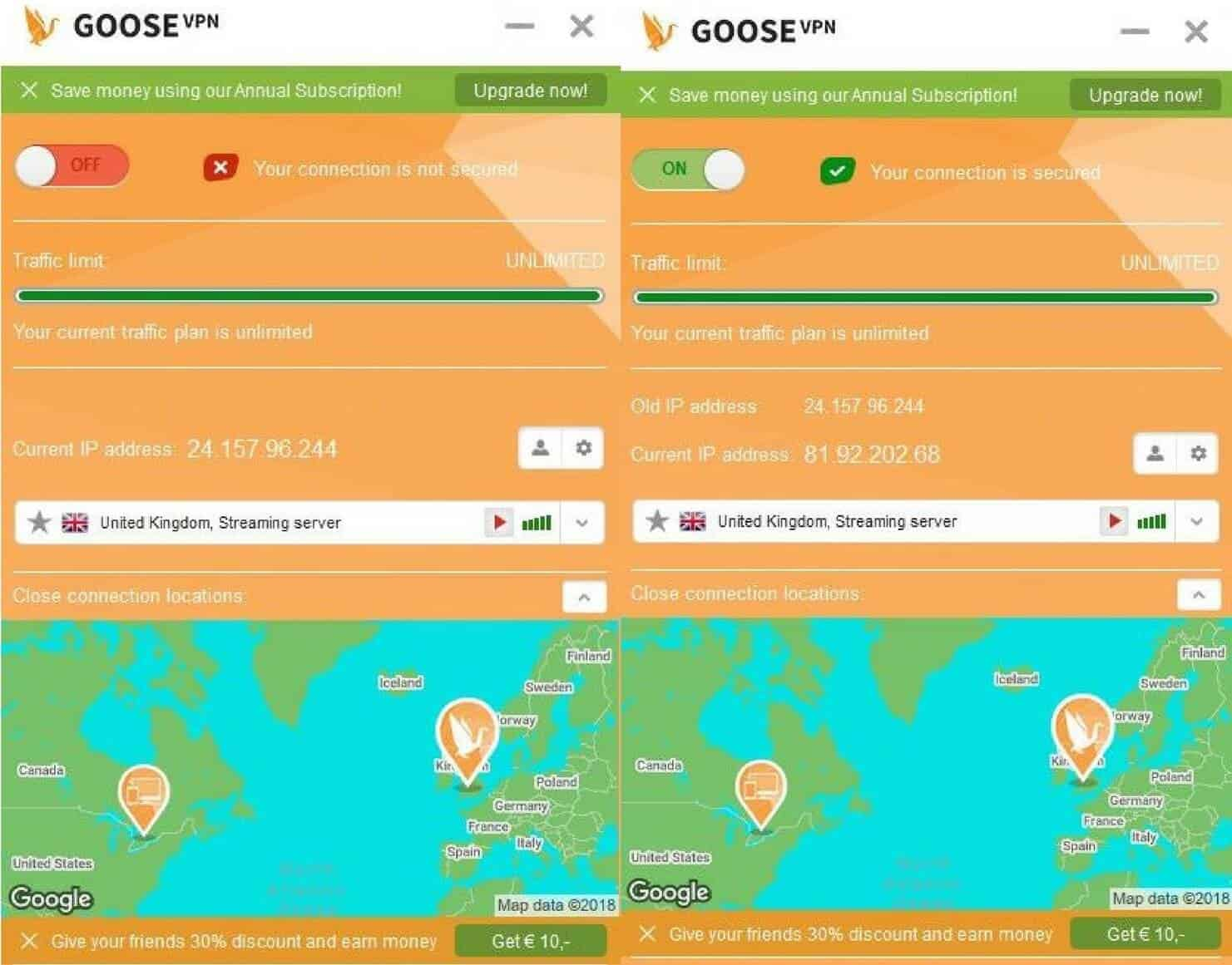 Goose Vpn Review 2018 Does It Log Your Activity How Fast Is You Need To Get A Kill Switch That Has The Additional Connections Server Selection Dropdown In Middle Of Screen Just Below Current Ip Address Youll Notice Some Servers Are Labeled With P2p Or Video