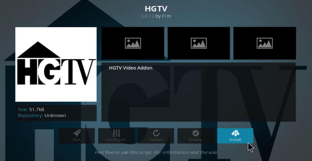 HGTV best kodi addons