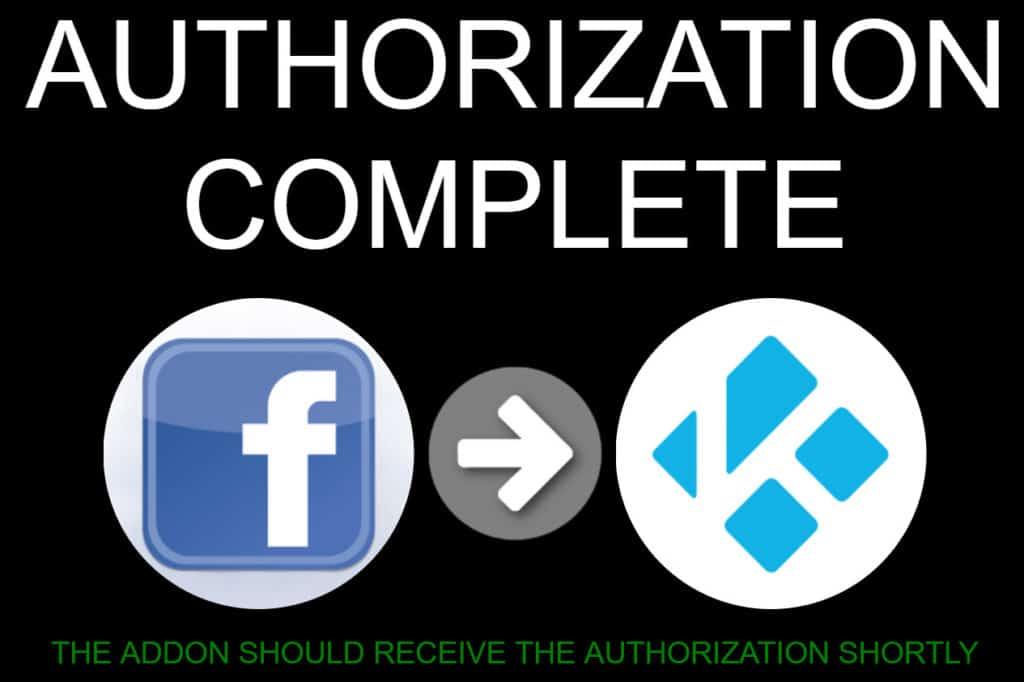 Facebook media authorization complete