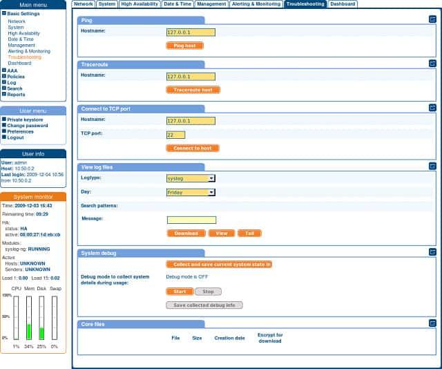 Syslog-ng screenshot