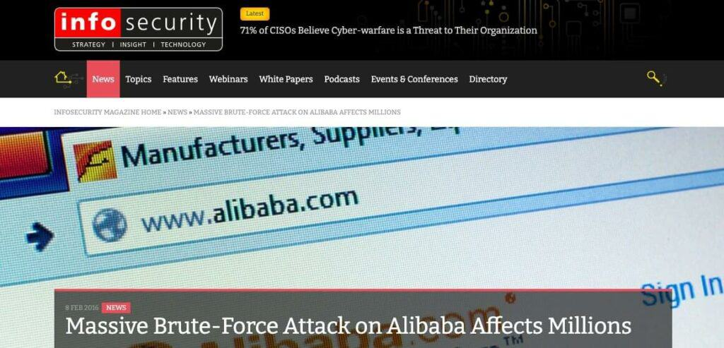 The Alibaba headline.