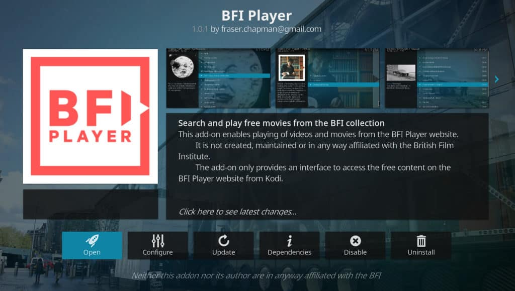movie kodi addons bfi