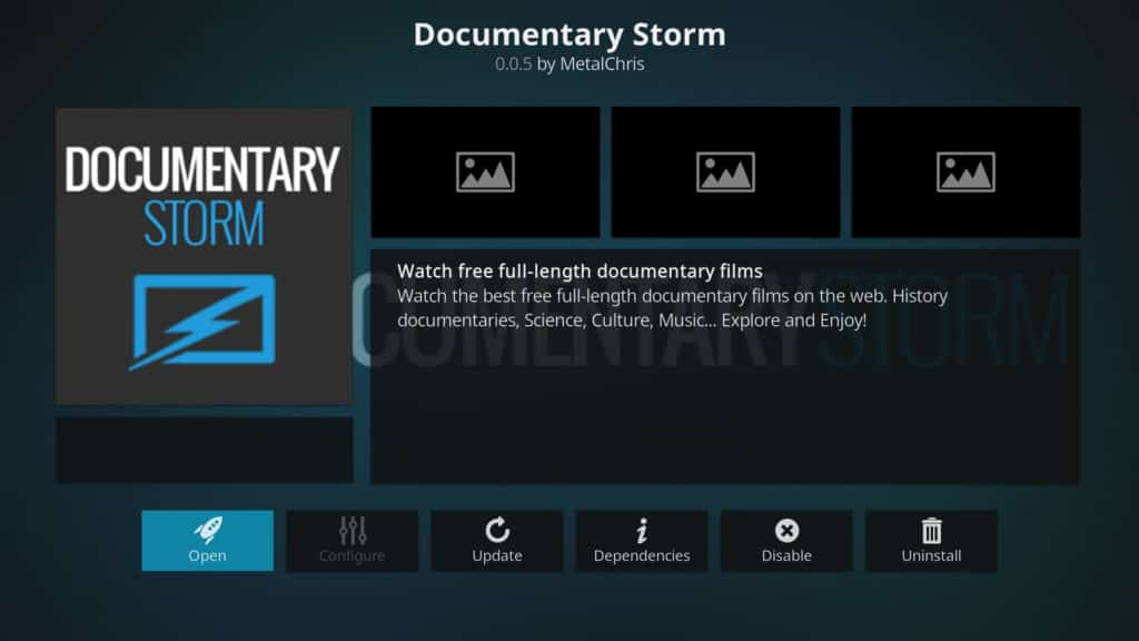 documentary storm best kodi addons