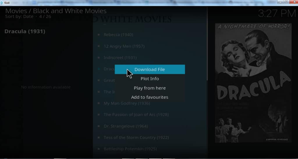 download movies on Kodi