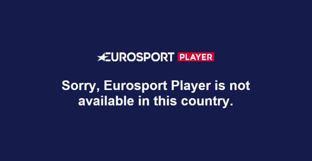 Eurosport not available message.