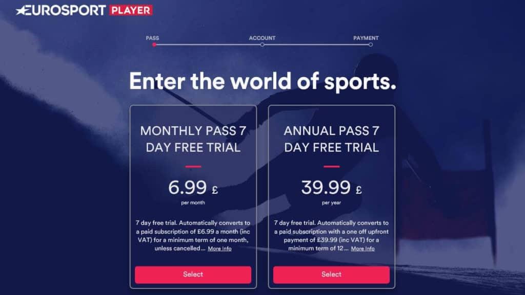 UK Eurosport pricing.