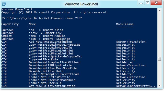 how to run cmdlets powershell