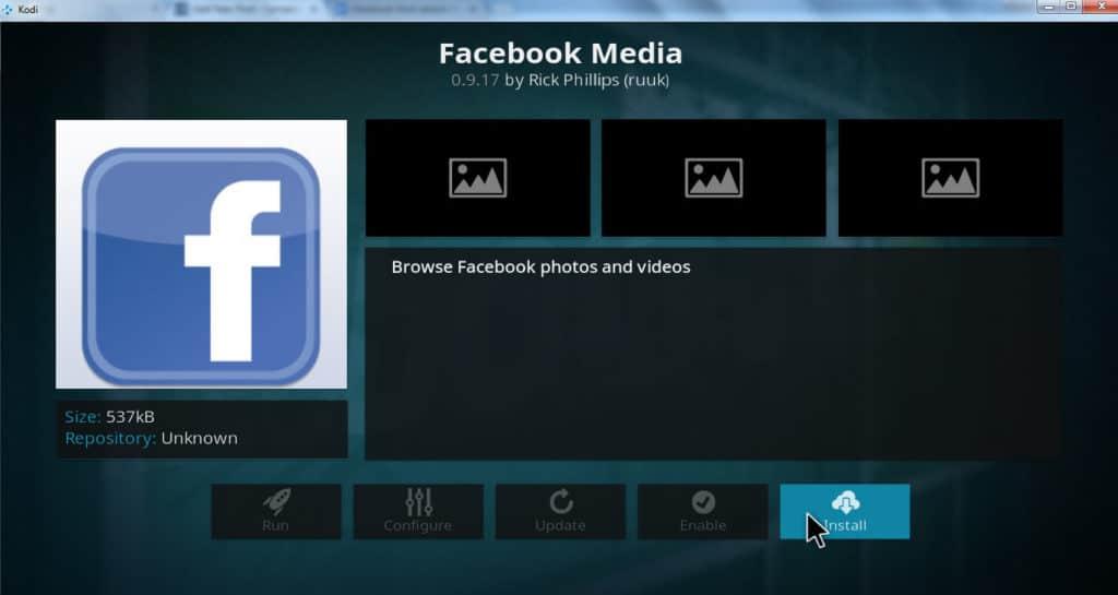 install facebook media