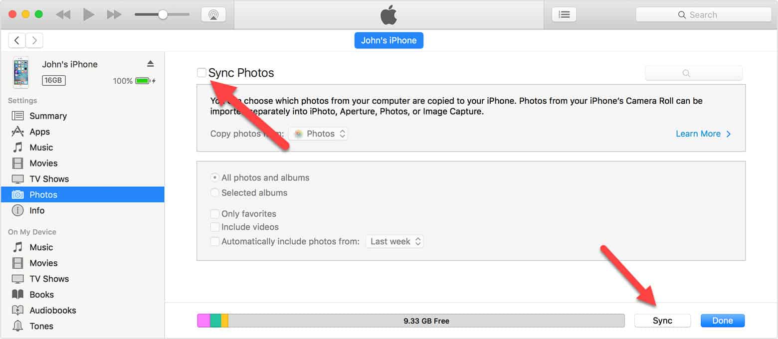 how to put iphone photos on laptop or icloud