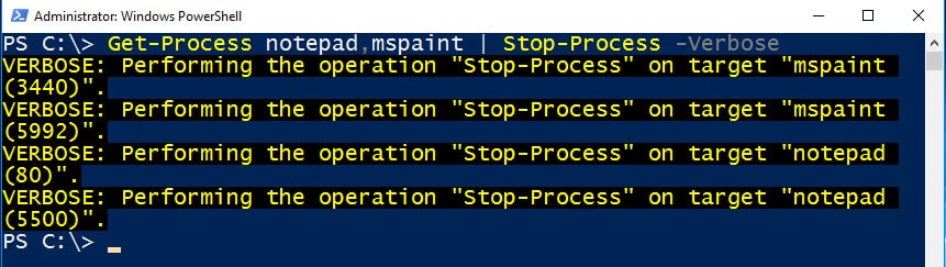 powershell stop-process