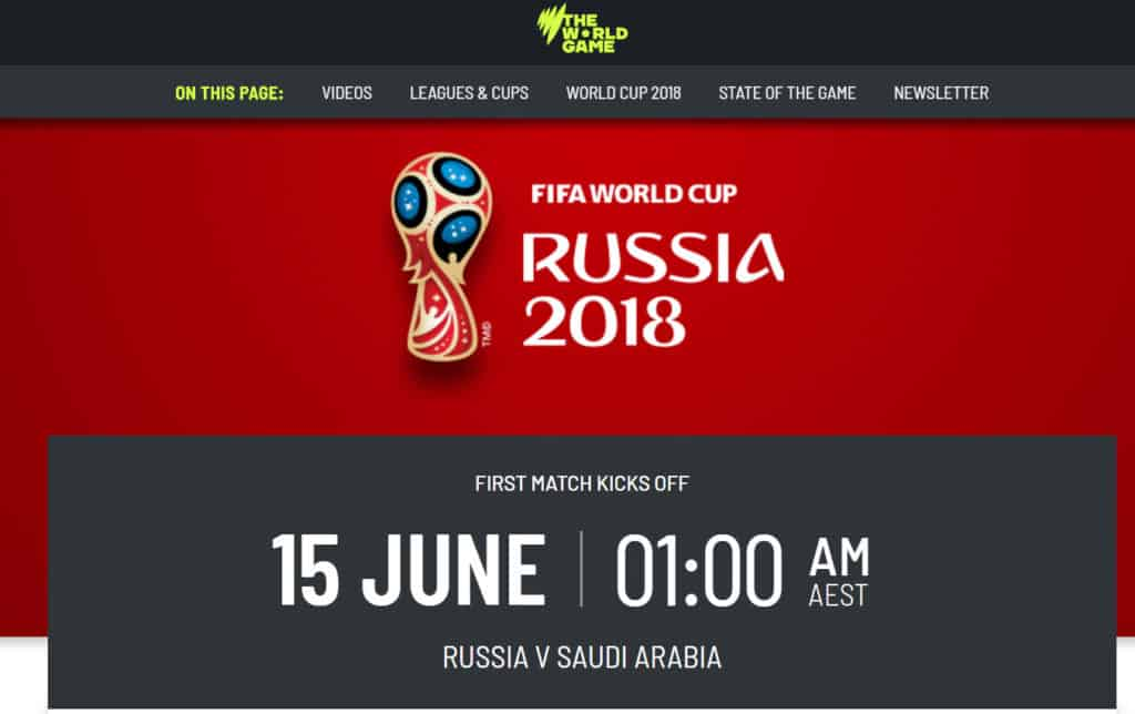world cup 2018 without cable