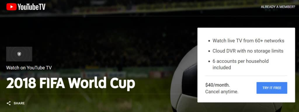 world cup without cable