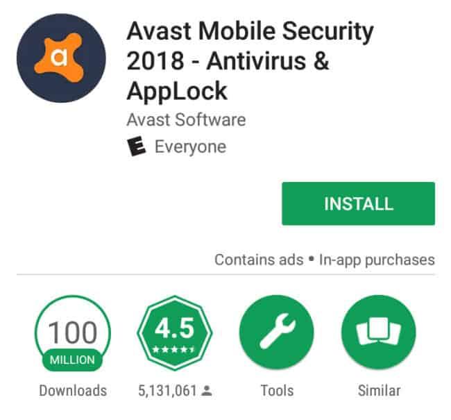 avast android antivirus