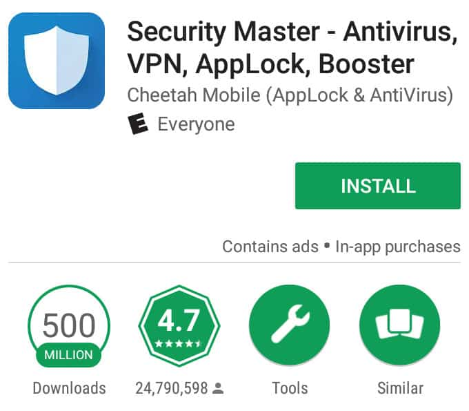 super speed cleaner android antivirus